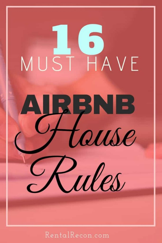 Airbnb House Rules Samples For Hosts- 16 Examples | Rental Recon