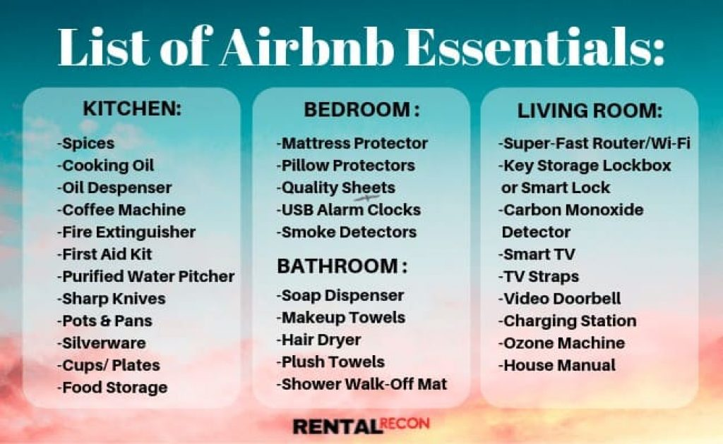 Airbnb Essentials List