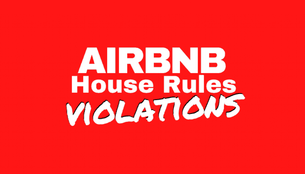 Airbnb House Rules Violations