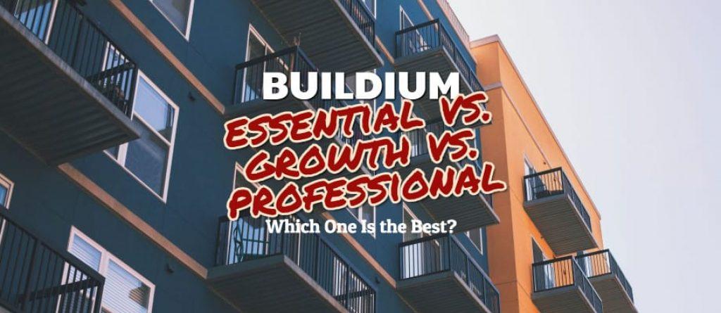 Buildium Essentials Vs. Growth Vs. Professional